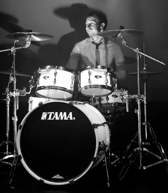 Simeon drums 1 B&W